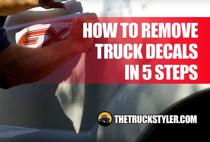 how to remove truck decals