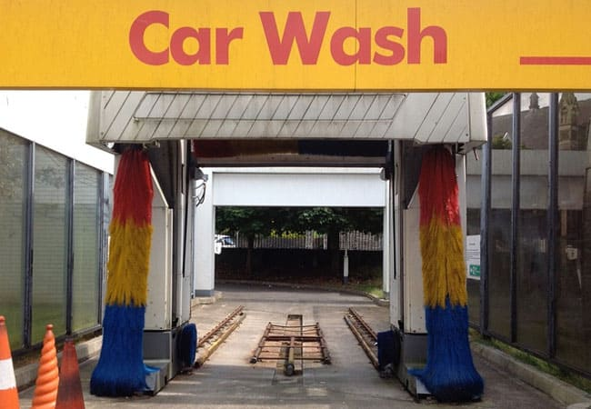 car wash pickup truck with tonneau cover