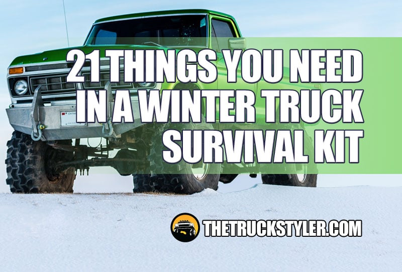 winter truck survival kit