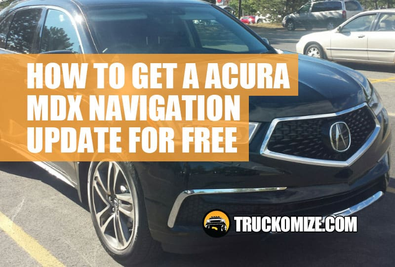 how to update acura mdx navigation system for free